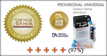 Dental Award 2018 VisalysTemp
