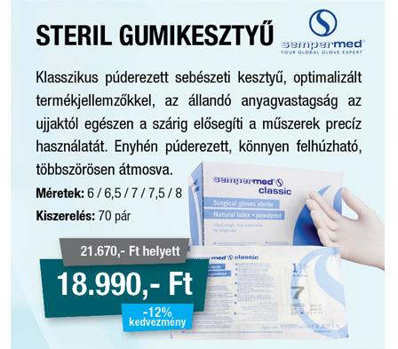 Steril gumikesztyű