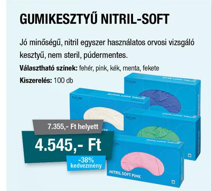 Gumikesztyű Nitril Soft
